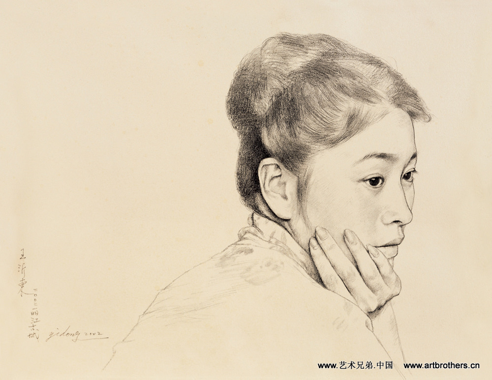 简单素描头像画_简单素描头像_简单素描人物头-铅笔素描头像 女生铅图片